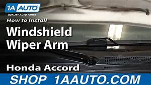 How To Replace Windshield Wiper Arm 94-97 Honda Accord