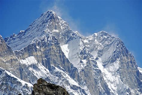 tallest mountains mount everest lhotse west closeup 1663 world all details