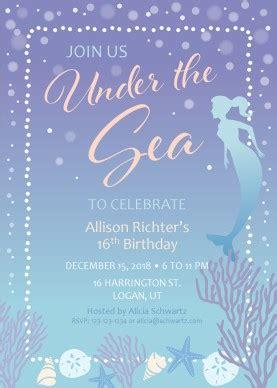 printable mermaid birthday party invitation template