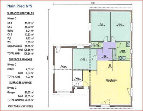plan maison 4 chambres plain pied gratuit nos plans maisons columbia