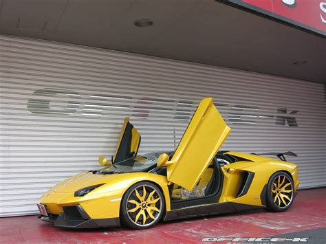 yellow lamborghini aventador yellow lamborghini aventador roadster by office k gtspirit