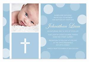 Blue Baby Boy Baptism / Christening Invitation by ...