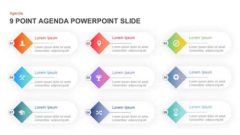 point agenda powerpoint template  keynote