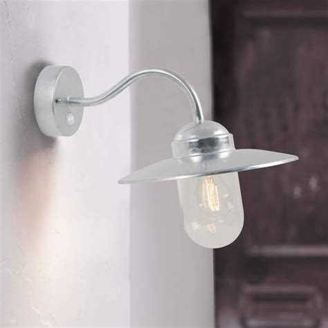 nordlux luxembourg swan neck outdoor wall light with pir