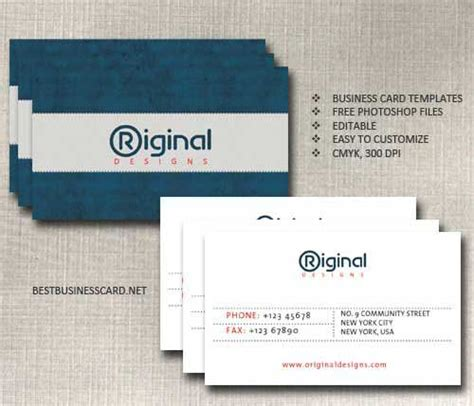 Photoshop Business Card Template Business Card Template Psd 22 Free Editable Files