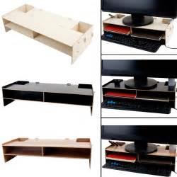 desk organizer monitor stand decorative wood computer monitor riser over keyboard