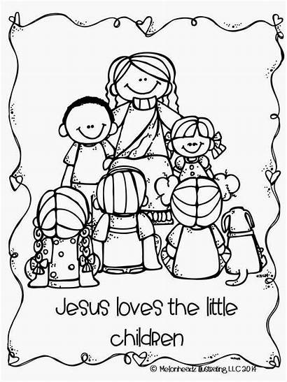 Melonheadz Jesus Coloring Loves Children Goodies Conference