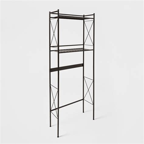 Brushed Nickel Etagere by Threshold Square The Toilet Etagere Brushed