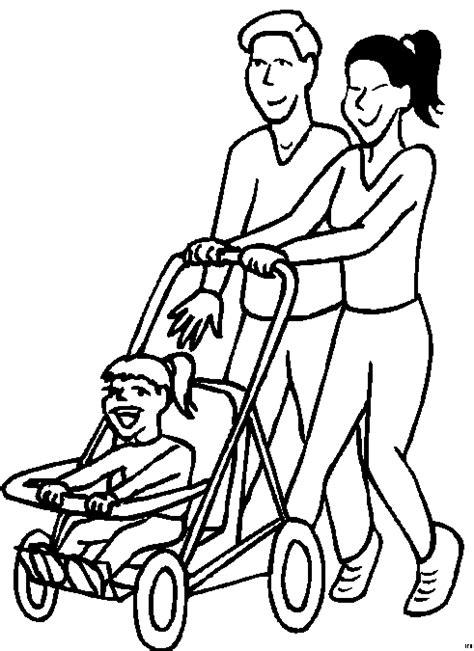 Familie Mit Kinderwagen Ausmalbild & Malvorlage (sport