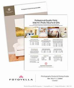 Price List Template - Pricing Guide - Photography Print Products - CHERISH - 1311 | Photography ...