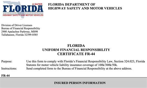 Repeat offenders are required to serve a four month suspension, obtain liability insurance and pay a fee of $100 online through the ilivs.com website prior to reinstatement of their license plates. SR22 Insurance Florida   FR44 Form South Florida   Boca Raton   Delray Beach - All Risk ...