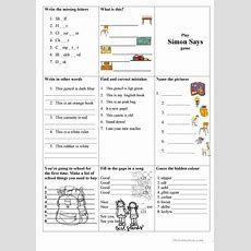 School Things, Numbers And Colours (test) Worksheet  Free Esl Printable Worksheets Made By Teachers