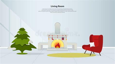 Interior Design Domestico Con Mobilia Salone Con Il Camino