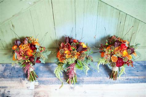 rustic fall wedding flowers rustic fall wedding bouquets