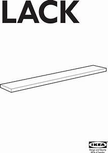 Ikea Lack Wall Shelf 74 3 4x10 1 4 Assembly Instruction
