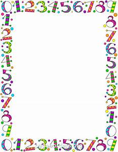 Printable number border. Use the border in Microsoft Word ...