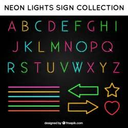 Alphabet Letters in Neon Sign