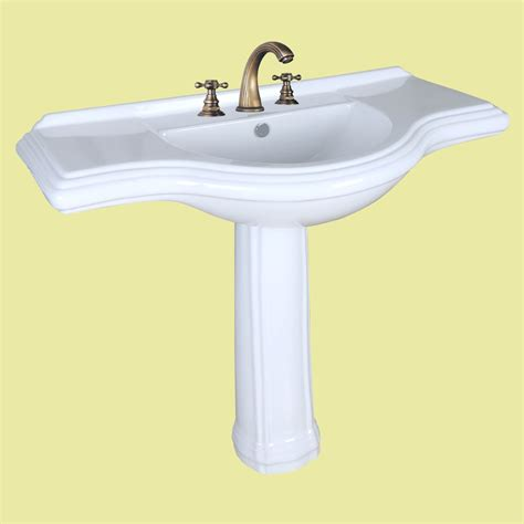Pedestal Sink Bathroom by Vintage Pedestal Sink X Large Bathroom Console 8