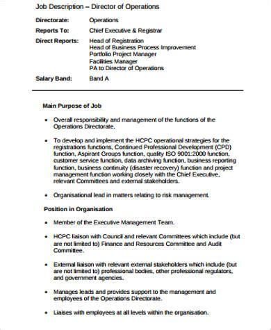 director job description sample  examples  word