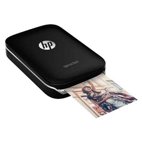 hp sprocket zink   ink photo printer black