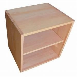 Cube En Bois Rangement : cube de rangement avec tag re en bois de h tre massif huil ~ Melissatoandfro.com Idées de Décoration