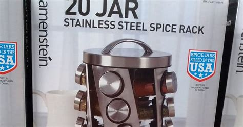 Kamenstein 20 Jar Stainless Steel Spice Rack
