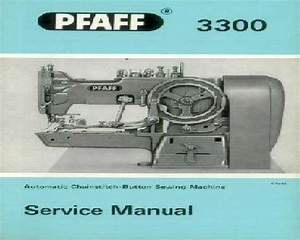 Pfaff 3300 Industrial Sewing Machine Service Instructions