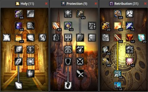 paladin classic retribution leveling build wow pve guide warcraft talent tree dps builds ret pvp spec protection holy level healing