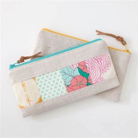 patchwork zipper pouch sewing pattern
