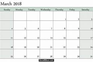 march 2018 calendar printable template with holidays pdf With calnedar template