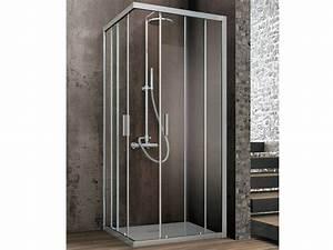 Cabine De Douche Rectangulaire : cabine de douche d 39 angle rectangulaire en cristal portes ~ Melissatoandfro.com Idées de Décoration