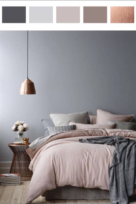 5010 Shades Of Grey In The Bedroom  Dusty Pink, Rose And Gray