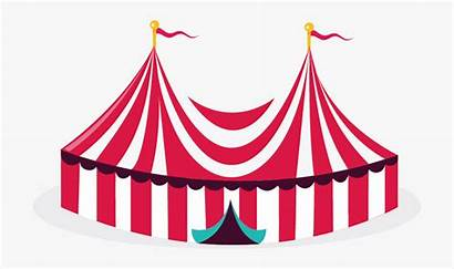 Circus Tent Carnival Clipart Cartoon Tents Transparent