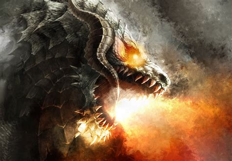 Dragons Images Fire Breathing Dragon Hd Wallpaper And