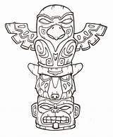 Totem Pole Deviantart Tattoo Native American Tiki Coloring Drawing Poles Pages Tribal Indians Craft sketch template