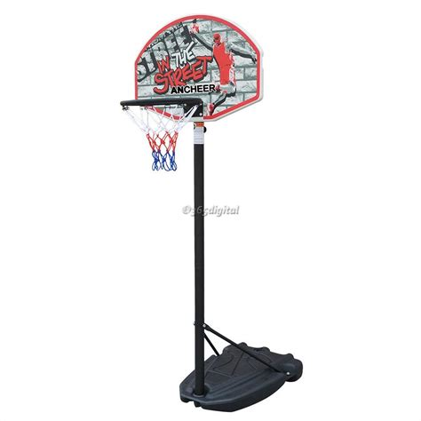 height adjustable portable basketball net hoop