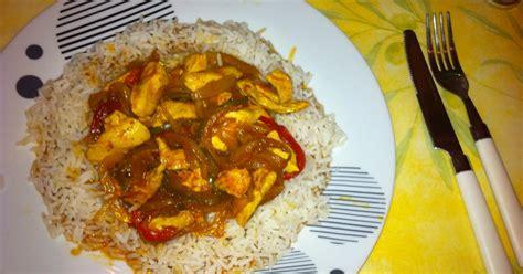 recette poulet poivrons tomates curry