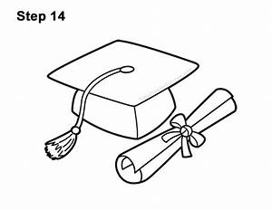 How to Draw a Graduation Cap with Diploma VIDEO & Step-by ...