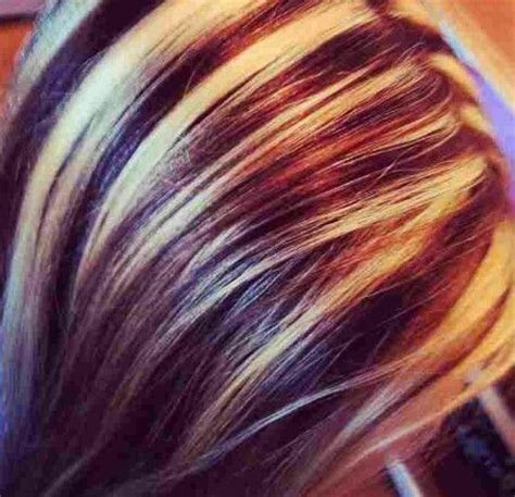 images  streaked hair  pinterest red