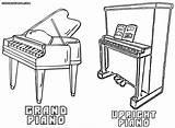 Piano Coloring Pianos Colorings Types sketch template