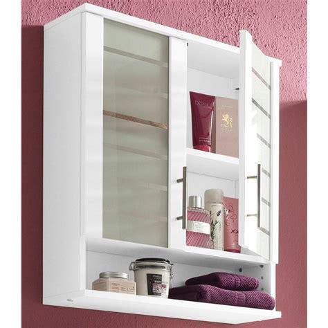 meuble haut de salle de bain 2 portes nikosia de schildmeyer blanc blanc autres mobilier