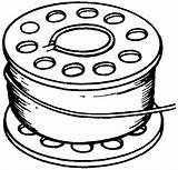 Drawing Thread Spool Bobbin Clipart Sketch Template sketch template
