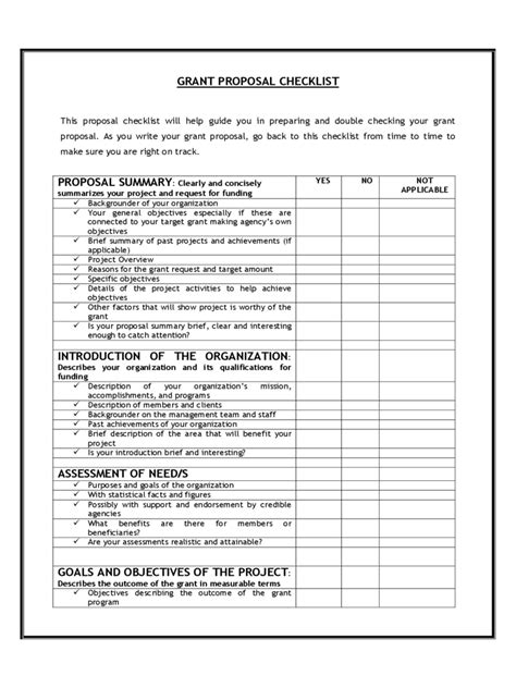 grant proposal template   templates   word