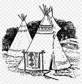Teepee Native Coloring Pngfind sketch template