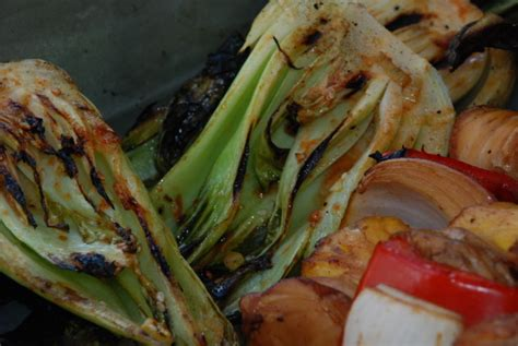 grilled baby bok choy recipe foodcom
