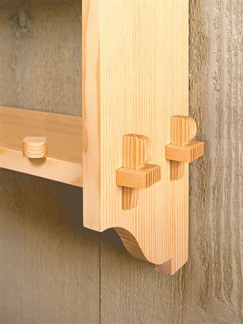 knock  wall shelf woodworking project woodsmith plans