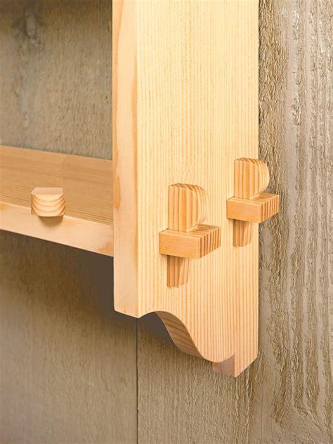 knock  wall shelf woodworking project woodsmith plans