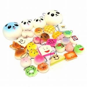 12PCS Random Kawaii Squishy Panda Bun Toasts Multi Donuts