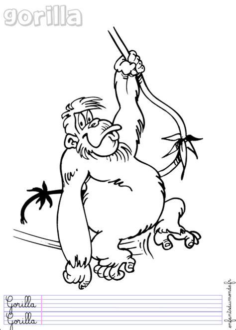 coloriage singe 2 coloriages animaux de la jungle en italien