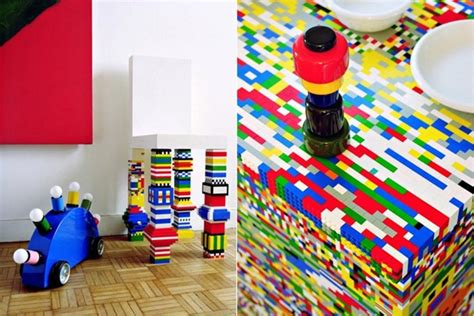 This Colorful Kitchen Island Is Made With 20,000 Lego